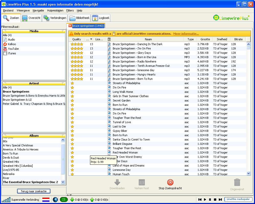 Limewire Plus screenshot
