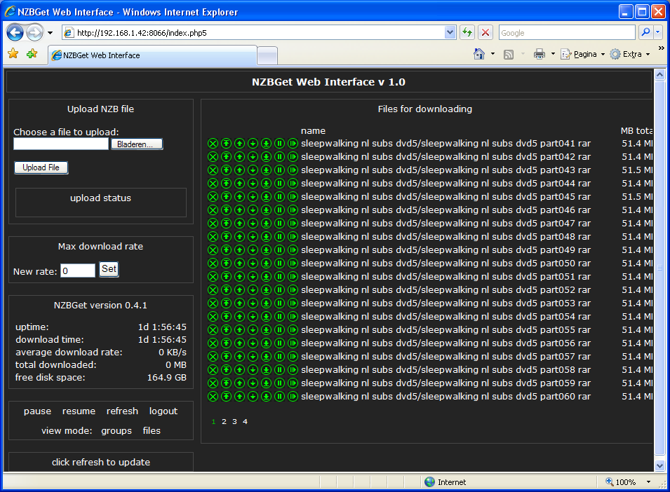 Software NZBGET web raspberry pi