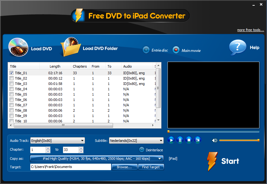 Free DVD to iPad Converter 3.7.2   Apple   Computer!Totaal
