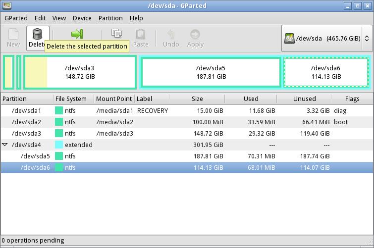 Regels voor het partitioneren van harde schijven apps software computer totaal - Externe verwijderbare partitie ...