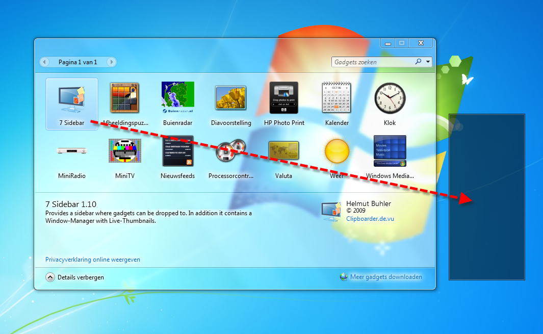how to add weather gadget windows 7