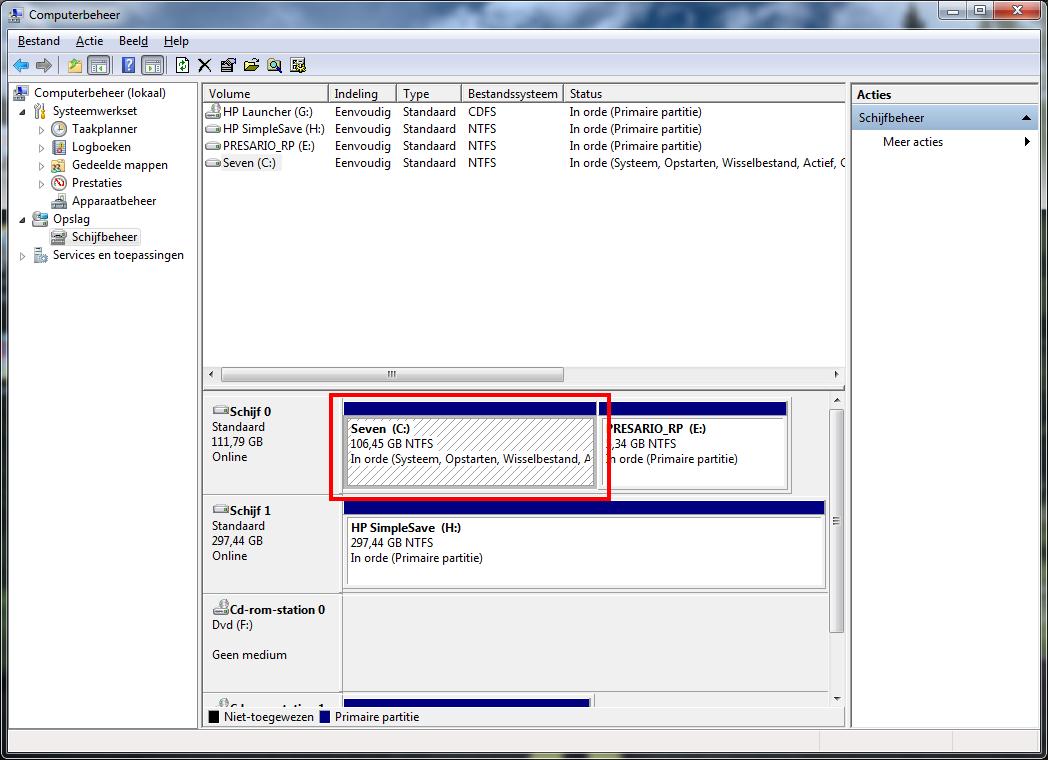 Partities verkleinen met windows 7 apps software computer totaal - Een verwijderbare partitie maken ...