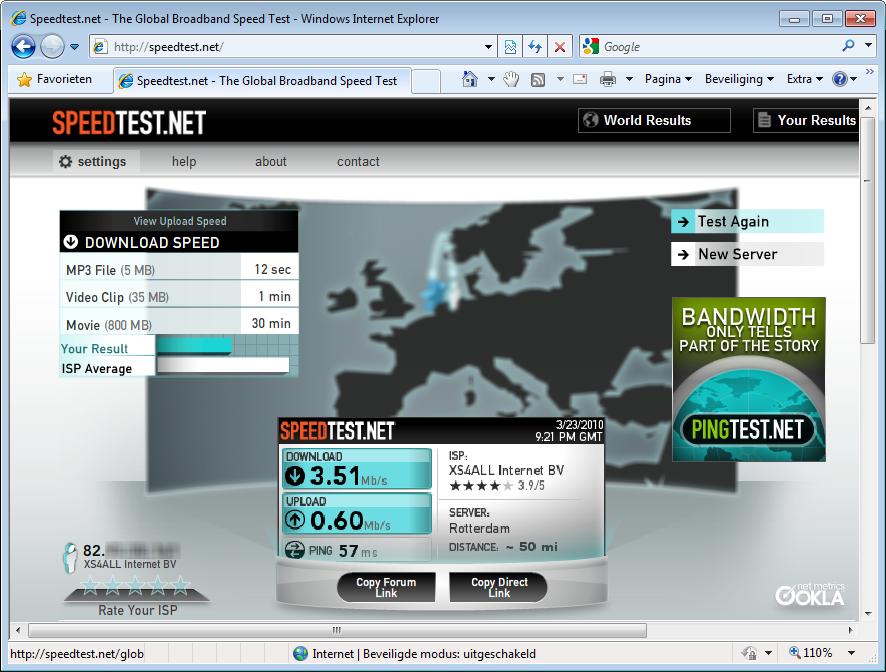 internet snelheid testen online