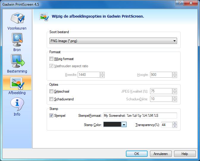 Gadwin PrintScreen biedt bijzonder veel mogelijkheden.