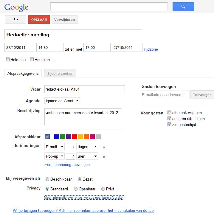 problemen synchroniseren google agenda