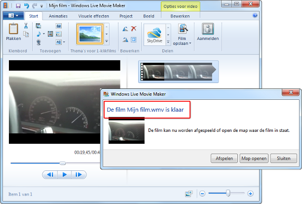 mp4 bewerken met windows movie maker